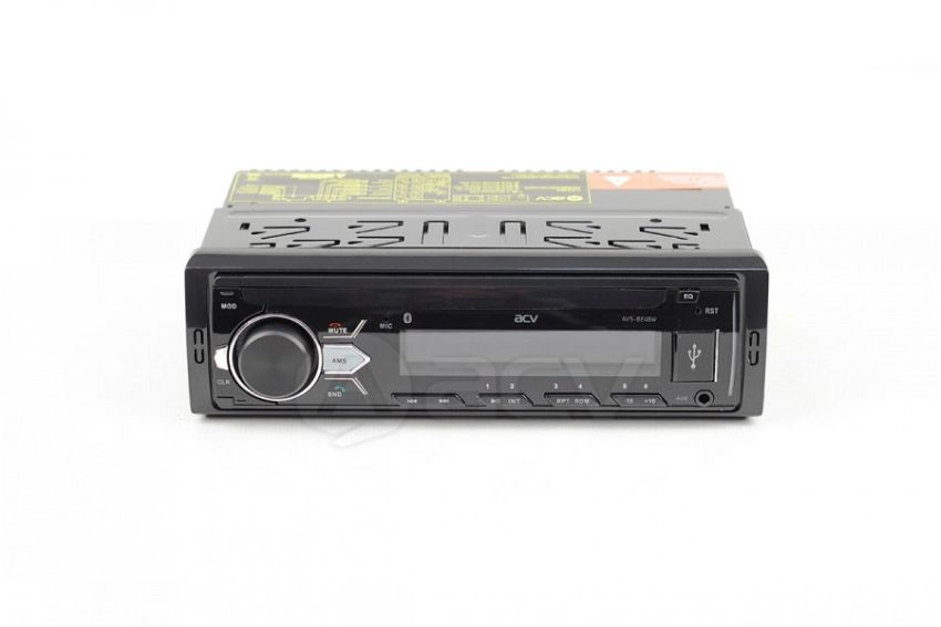 ACV AVS-824BW 1din ресивер 24V!/белая/BT/USB/SD/FM/AUX/MP3/4*45/фикс.панель