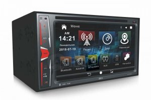 "ACV AVD-6600 2din ресивер 6.2""/800*480/DVD/FM/AM/MP3/USB/AUX/BT/GPS/MirrorLink/4*45Wt/Phone Charge"